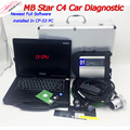 Full chip MB Star C4 SD wifi connect full install in CF53 laptop i3 CPU with 2019.09V software ready to use car Diagnostic Tool