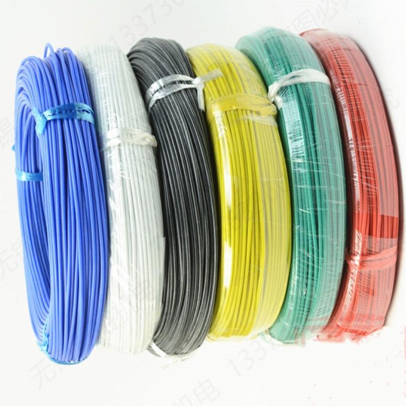300 meters/roll (984ft) 28AWG hoge temperatuur weerstand Flexibele silicone draad vertind koperdraad RC power Elektronische kabel