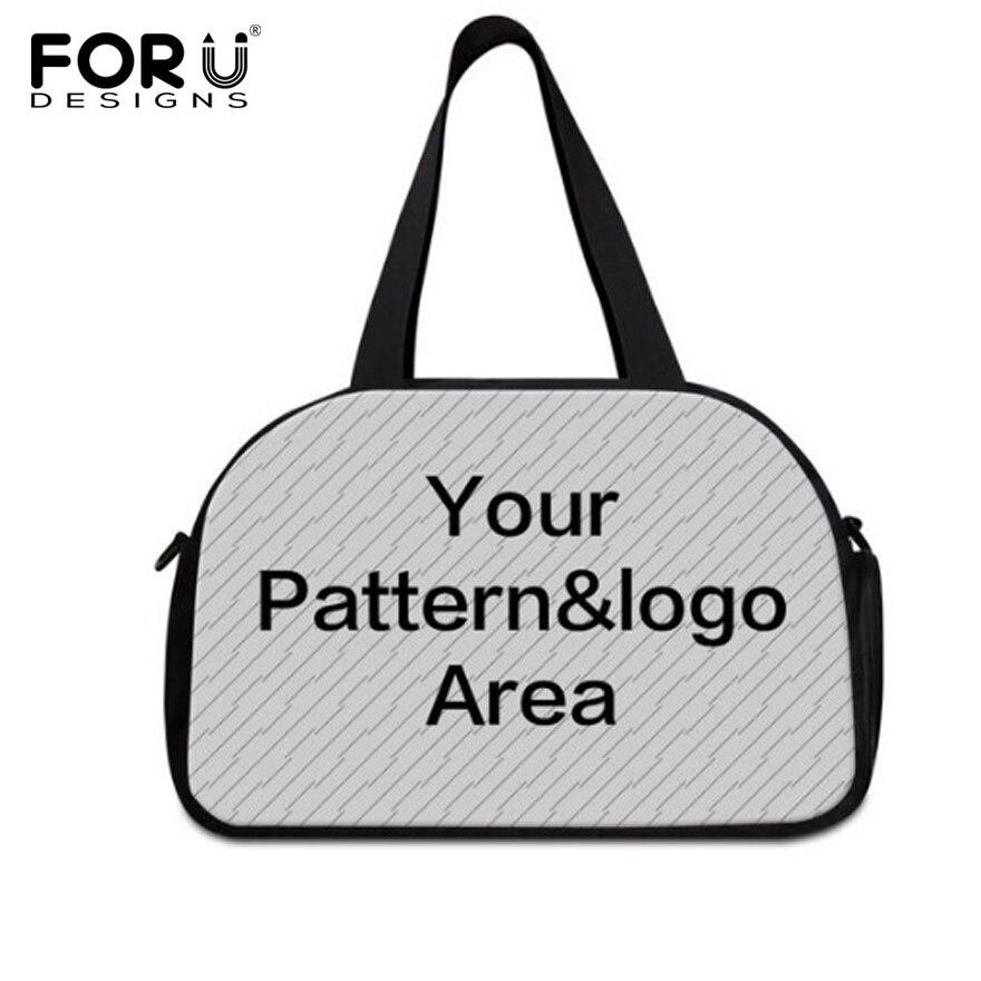 FORUDESIGNS 2019 grand voyage sacs de voyage personnaliser votre Image Logo décontracté Sport Gym Yoga sacs à main pour femmes hommes fourre-tout sac Bolsas