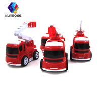 4Pcs Set Kids Toy Car Red Fire Truck Toys Miniature Truck Plastic Kids Toy Vehicles Car