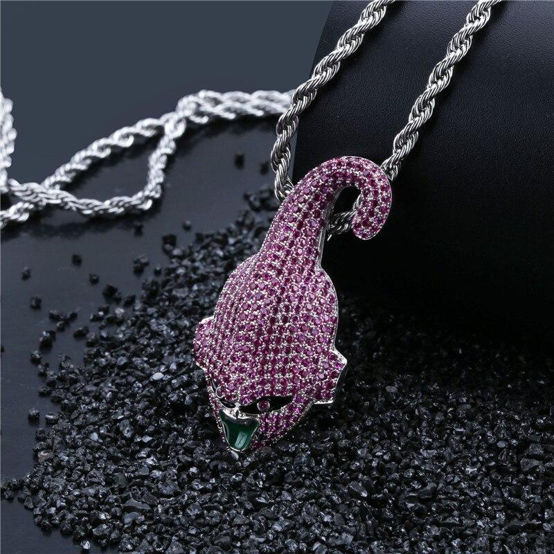 Hip Hop cubique Zircon Dragon Ball Super personnalisé glacé Bling chaîne pendentif et collier pour hommes bijoux livraison directe