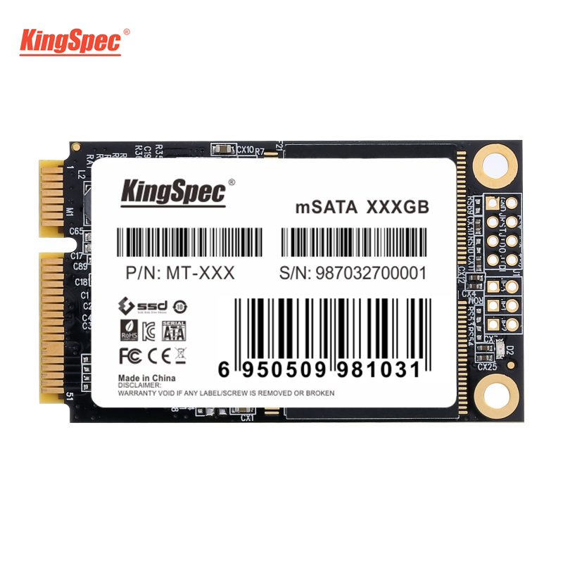 KingSpec SSD 240GB mini mSATA Solid State Drive HD 256GB Harde Drive Disk Mini SATA Module For Dell M6500 For Lenovo Y560 Laptop
