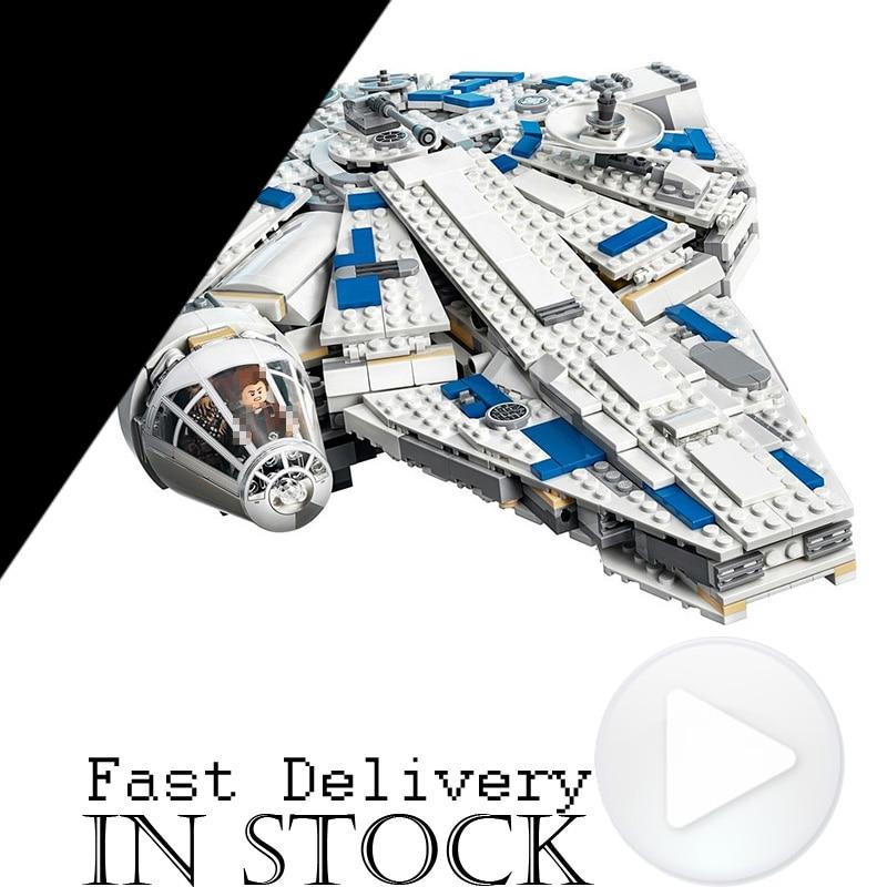2018 new Lepin 05142 Star Series War The Kessel Run Millennuim Falcon Set Building Blocks Bricks Kid Toys Gifts legoINGly 75212
