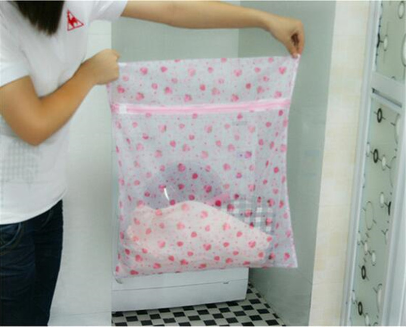 1pc Clothes Washing Machine Laundry Bag With Zipper Basket Mesh Bag Household Cleaning Tools Accessories Laundry Wash Care Bags