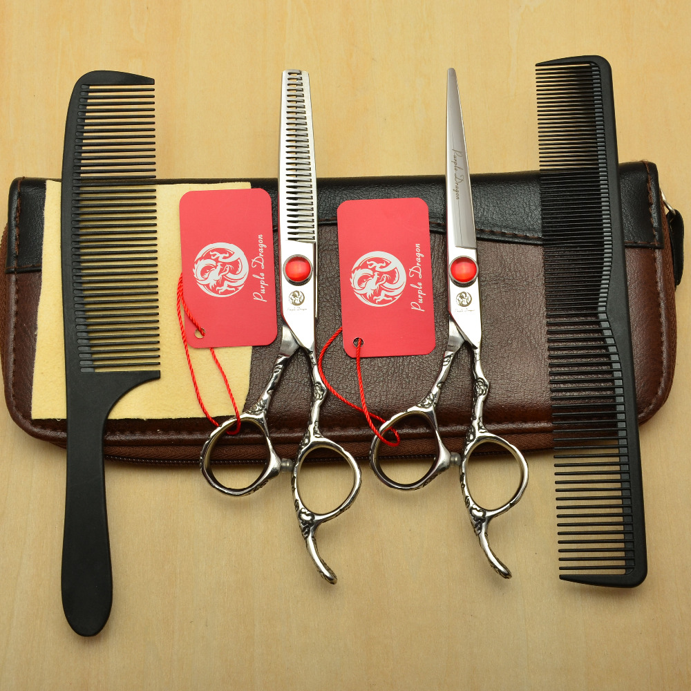 4Pcs Suit 6 Silvery Professional Human Hair Scissors Hairdressing Cutting Combs + Shears + Thinning Scissors Plum Handle Z90024Pcs Suit 6 Silvery Professional Human Hair Scissors Hairdressing Cutting Combs + Shears + Thinning Scissors Plum Handle Z9002