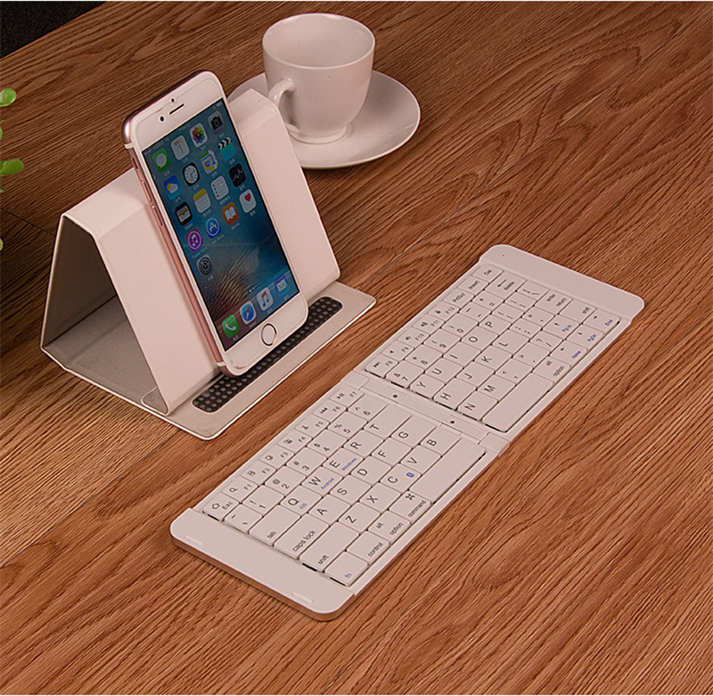 Clavier pliable universel Mini sans fil Bluetooth 3.0 pliable clavier Ultra mince pour tablette Smartphone iOS Android