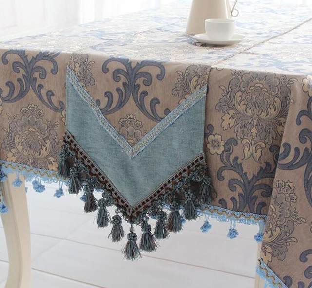Blue Grey Continental Upscale Rustic Restaurant Western Tablecloth Square  Tablecloths Round Table Flag Tablecloths