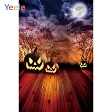 Yeele Halloween Party Pumpkin Lantern Bat Customized Photography Backdrop Personalized Photographic Backgrounds For Photo Studio