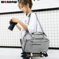 wennew DSLR Shoulder Camera Bag Sling Backpack Lens Case for Sony Alpha A99 Mark II 2 A68 A65 A77 A58 A57 A55V A56 A55 A33 A37