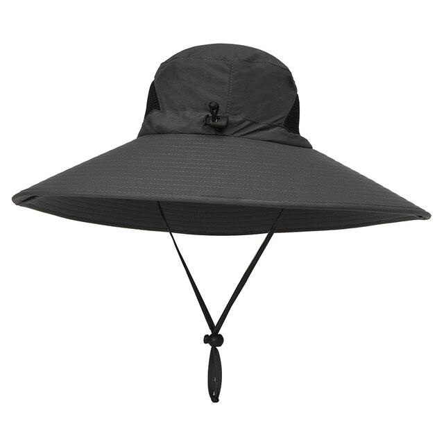 30056bad96962 Outdoor Hat Wide Brim Breathable Hunting Fishing Safari Sun Hat Cap Carp  Fishing Tackle Pesca Fishing Cap