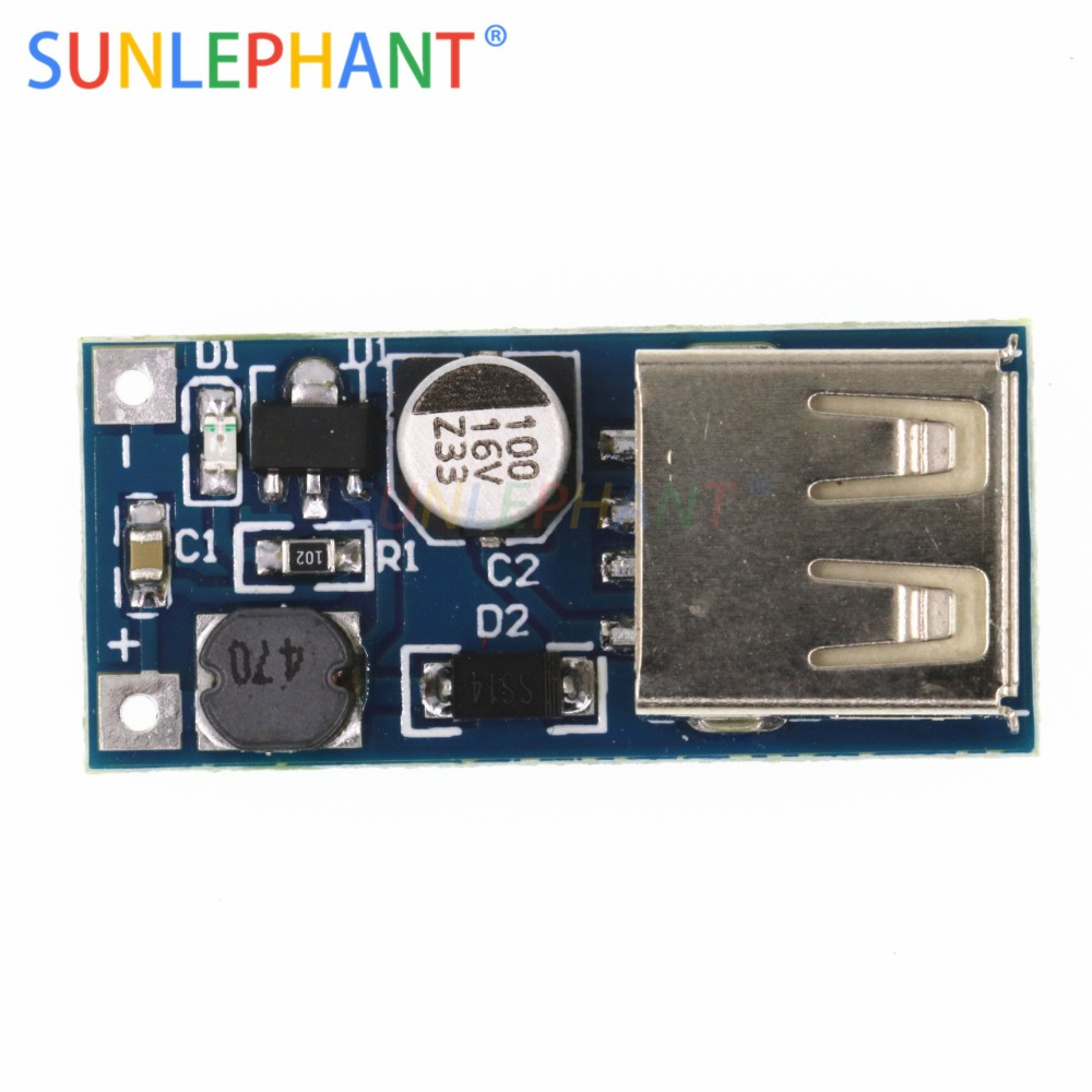 SUNLEPHANT DC-DC USB Ausgang ladegerät step up Power-Boost-Modul 0,9 V ~ 5 V bis 5 V 600MA USB mobile Power-Boost-Board