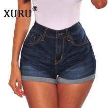 XURU 2019 summer new sexy womens denim shorts Slim personality high waist casual washed old jeans