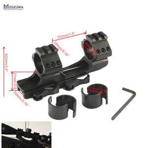 MIZUGIWA Tactical HeavyDuty Dual Ring 25.4mm 1inch / 30mm Quick Release Cantilever Weaver Forward Reach Scope Mount QD Cam Locks(China)