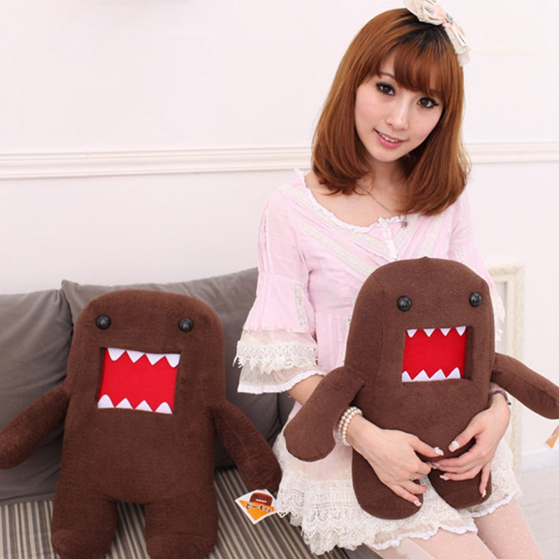 20cm 32cm 42cm Domokun Funny Domo-kun Plush Doll Children Novelty Creative Gift Kawaii Domo Kun Stuffed Toys for Kids 1pc 20cm 7 styles creative expression dumpling toys yan text bubble white foam particles plush pillow kids baby doll funny gift