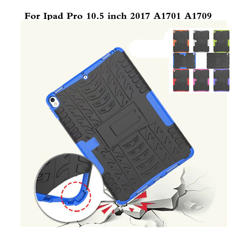 Case for iPad Pro 10.5 inch A1701 A1709 Protective Shockproof Impact Stand Soft TPU+Plasic Back Hybrid Cover with Pen Holder