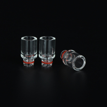 Sailing electronic cigarette 510 pure glass drip tips transparent tips for 510 tank atomizer free shipping
