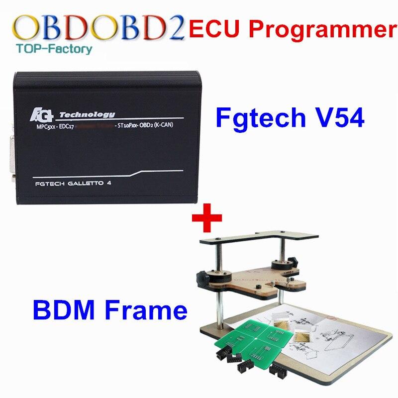 Fgtech V54 Galletto 4 + Marco de BDM interfaz de sintonización de Chip en forma de Chip Fgtech Galletto V54 versión maestra sin límites de token OBD2 escáner herramienta
