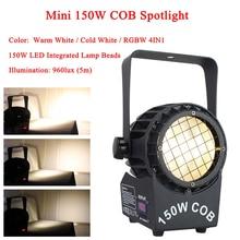 NEW Mini 150W COB Spotlights Warm White / Cold White / RGBW 4IN1 Color LED Par Light DJ Disco Light Wedding Parties Lighting все цены