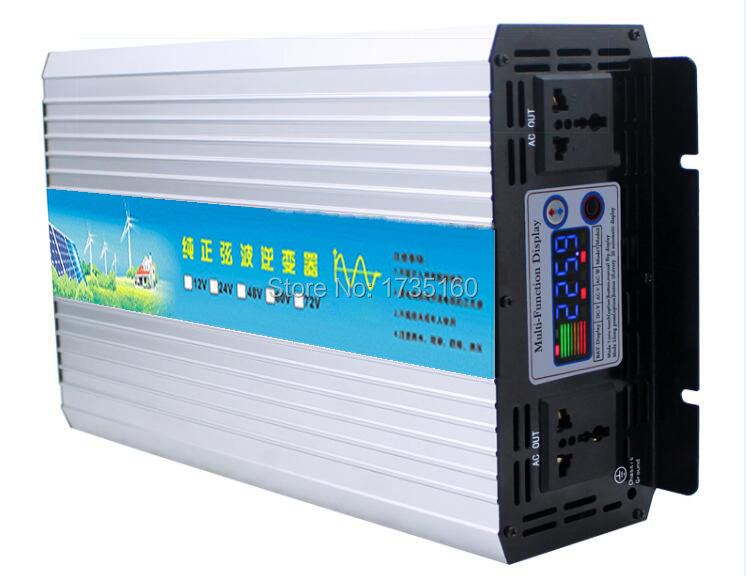 цена на 3000W Pure Sinus Inverter 12 Volt to 220 Volt 3000 VA Off Grid Pure Sine Wave Inverter