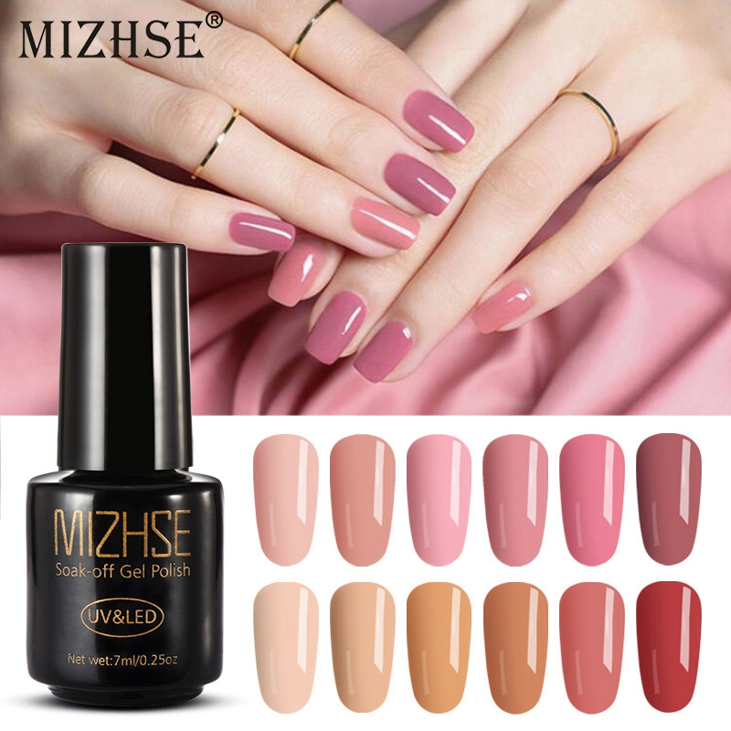 Gel Nail Polish Sale: MIZHSE Color Gel Polish UV LED Nail Gel Polish Yellow