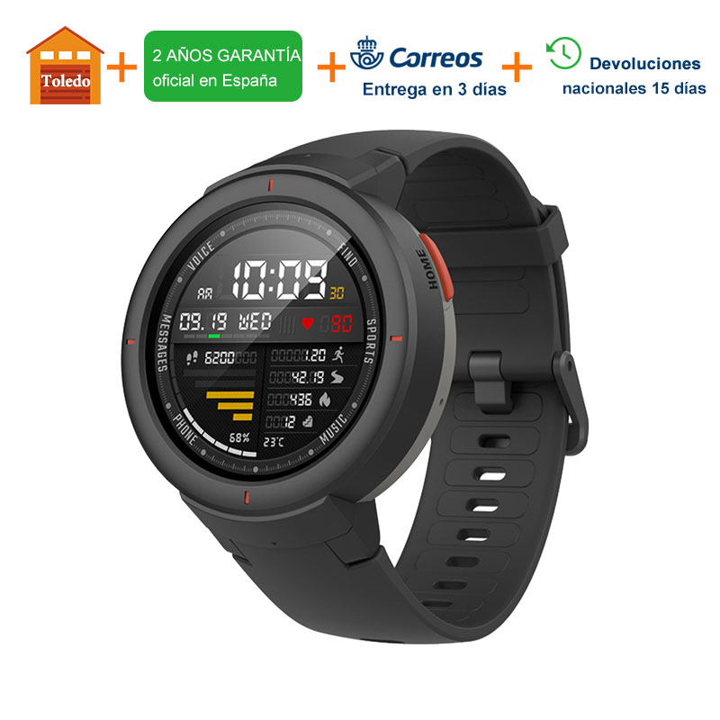 [Support Spanish ] Xiaomi Amazfit Verge Smart Watch Men 1.3-inch AMOLED Screen Dial & Answer Calls HR Sensor GPS Smartwatch 1