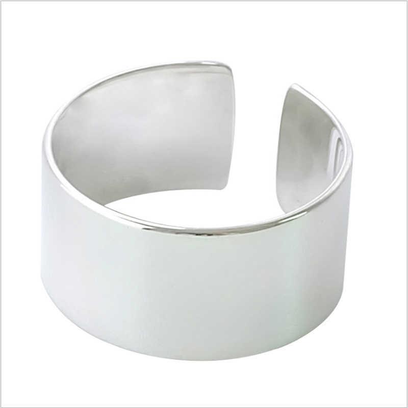 2019 Mới đến 100% 925 Sterling Silver ngón tay cái Bóng nhẫn đối với phụ nữ lớn Phải Đối Mặt Với Rộng Vòng Tay Cho Đồ Trang Sức Unisex mama người đàn ông bts