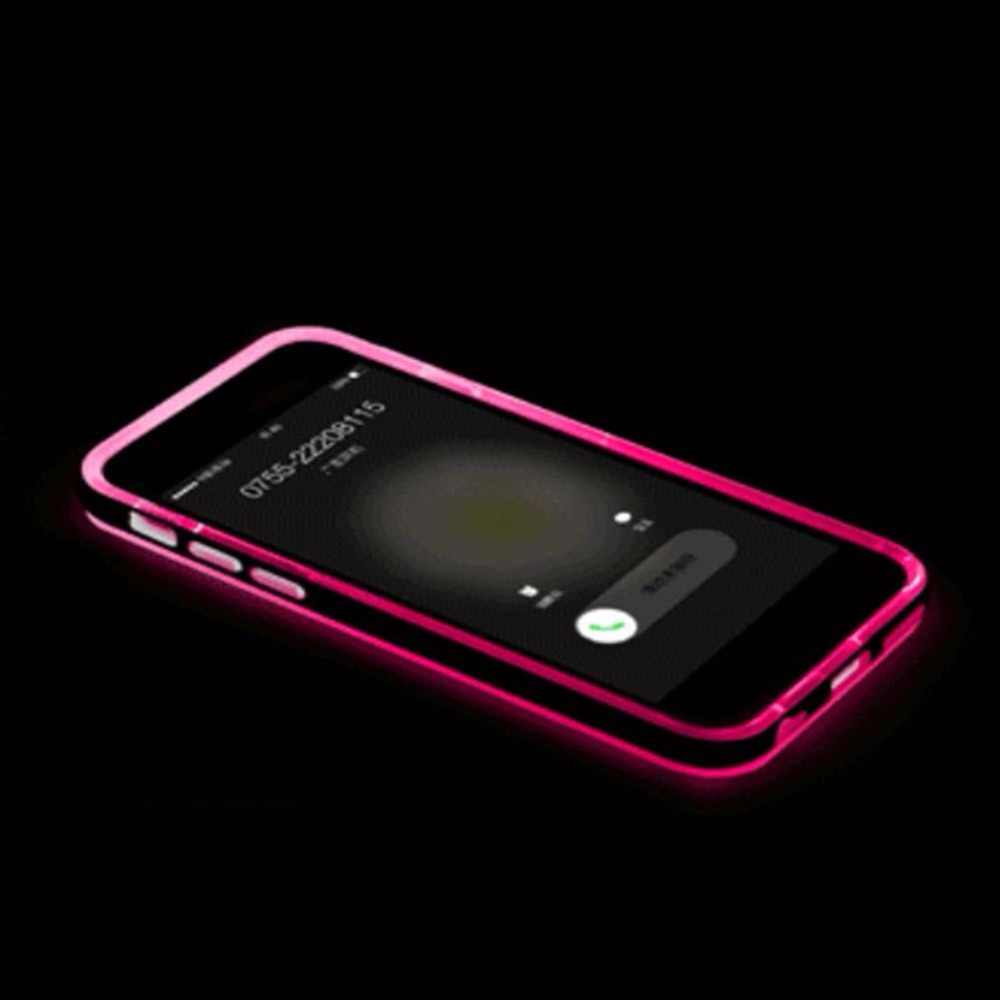 Incoming Call LED Light UP Frame Phone Case Cover for iPhone 6/6S Plus RR
