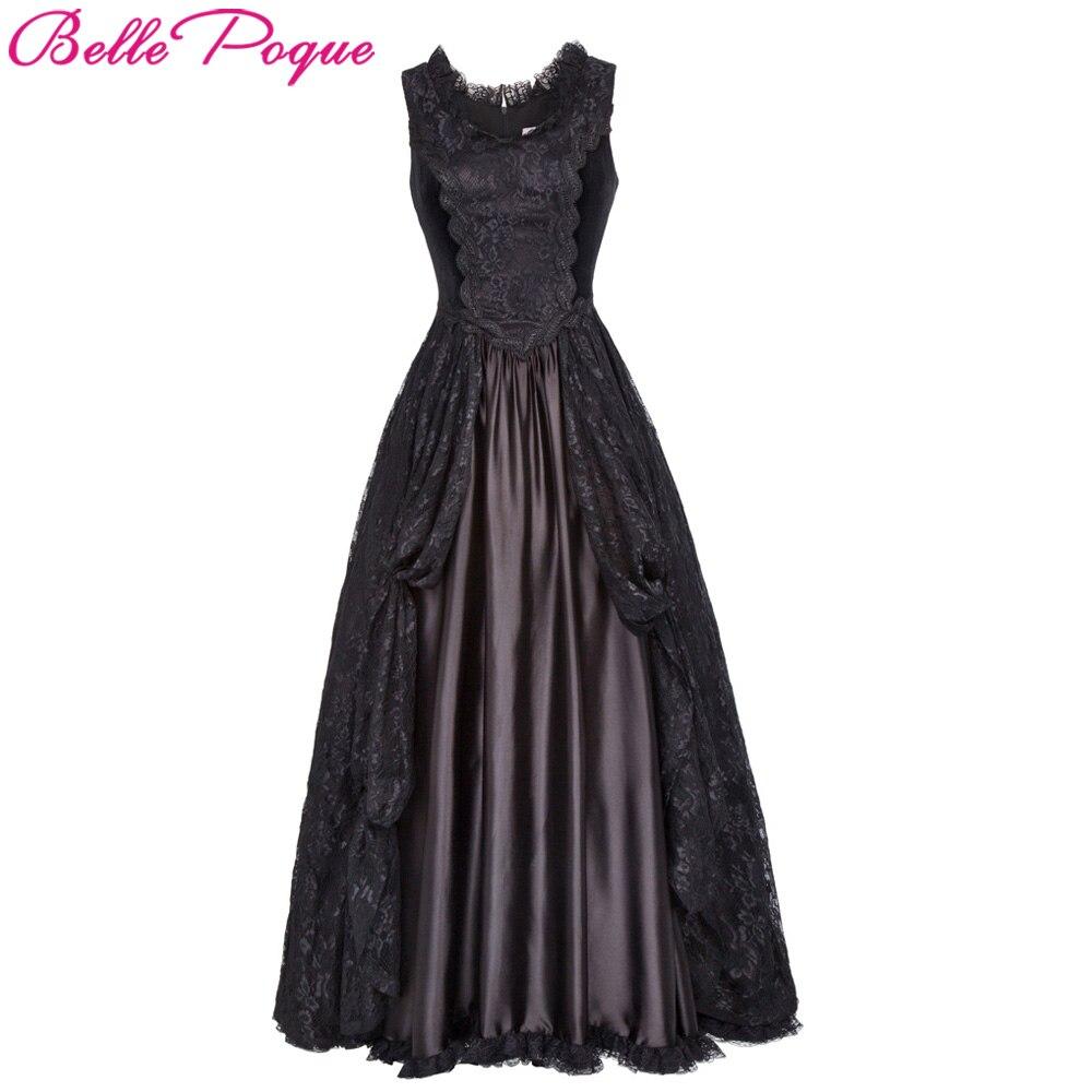 Belle Poque Retro Vintage Gothic Dress 2018 Lace Satin Renaissance ...