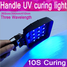 Replace 120w395 nmHandle portable LOCA UV curing machine 16-LED Portable UV Curing light Ideal Mobile Phone screen repair curing