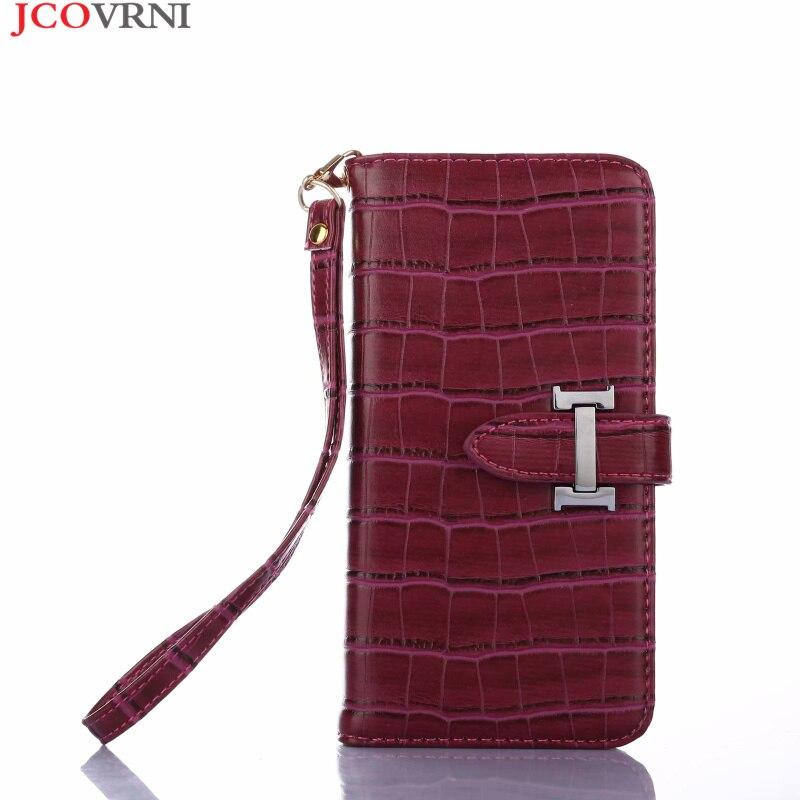 JCOVRNI élégant luxe cuir texturé crocodile pour Galaxy S9 téléphone mobile flip couverture pour Samsung S9plus sac de téléphone mobile