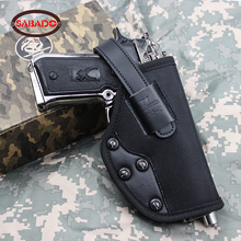 цена на Military belt waist holster Gun Molle Military Pistol hunting leather Oxford waist universal holster