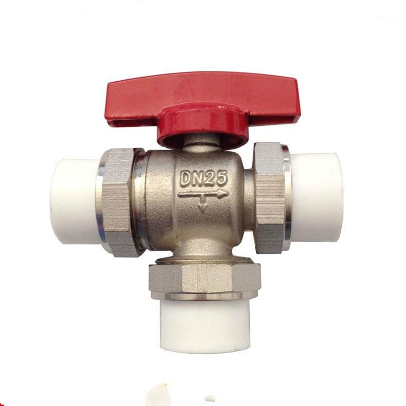 Trois voies vanne Thermostatique vanne de Régulation en laiton DN25 DN32