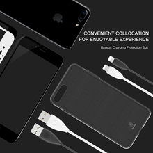 Baseus GIFT PET Soft Glass Film and Small pretty waist Cable and Simple Series High Transparent TPU Case For iPhone 7/7 Plus