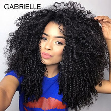 Gabrielle Hair Weave Bundles Malaysian Kinky Curly Hair Bundles Weave Non Remy Human Hair Extension Natural Color Free Shipping(China)