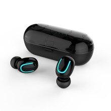 TWS True Bilateral de Chamadas Sem Fio Bluetooth 5.0 Fones De Ouvido fone de Ouvido Estéreo sem fio do fone de ouvido Fones de Ouvido Esporte Com Caixa De Carregamento Microfone