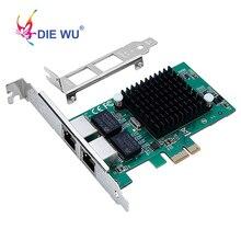 Carte carte intel 82575, double Port RJ45, NIC 10/100/1000 Gigabit, PCI Express, pcie x1, pour serveur réseau