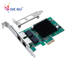Intel82575 DUAL PORT RJ45 พอร์ต NIC 10/100/1000 Gigabit PCI Express PCIe X1 เครือข่าย Server Adapter การ์ด TXA020