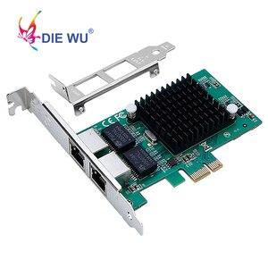 Image 1 - Intel82575 כפולה יציאת RJ45 נמל NIC 10/100/1000 Gigabit PCI Express pcie x1 רשת שרת מתאם כרטיסי TXA020