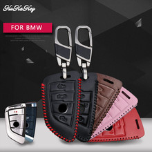 KUKAKEY Leather Car Key Case Cover For BMW F30 F20 X1 X3 X5 X6 X7 E34 E90 E60 E36 Protection Shell Accessories