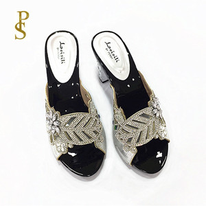 Image 3 - Womens high heels Beautiful ladiess shoes with diamonds party shoes