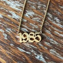 Женское Ожерелье с изображением даты, ювелирное изделие на годовщину 1985, 2020, 2001, 2002, 2003, 2004, 2005, 2006, 2007, 2008, ожерелья на день рождения