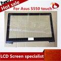 Para ASUS VivoBook S550 S550C Nueva Pantalla Táctil Digitalizador Lente de Cristal Del Panel con Marco de Reemplazo