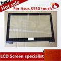 Para ASUS VivoBook S550 S550C Toque Novo Digitador Da Tela de Painel Lente de Vidro com Moldura de Substituição