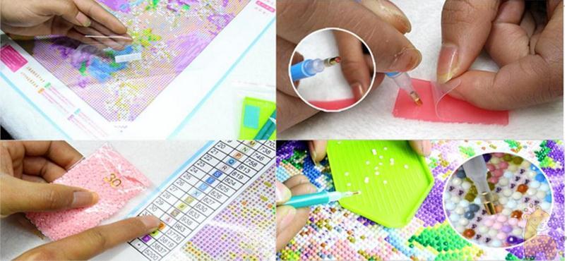 Flores de peonía Diamante redondo Diy 5D pintura diamante kits de - Artes, artesanía y costura - foto 6