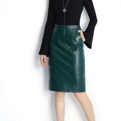 2018 New Fashion Genuine Sheep Leather Skirt E1