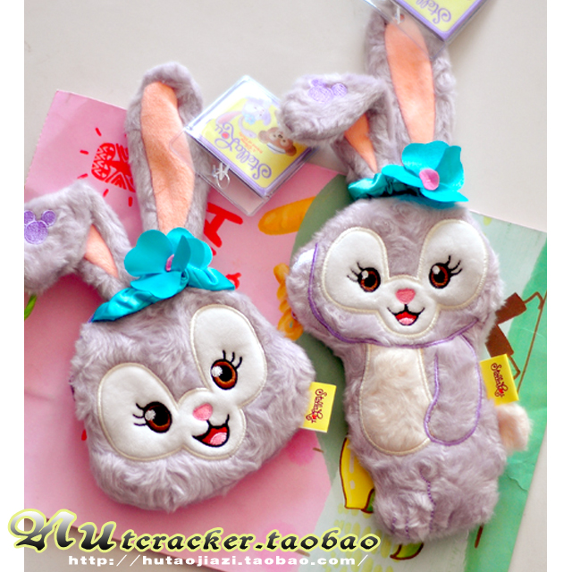Japan Duffy Bear Stellalou Plush Toy Cartoon Rabbit Coin Purse Stuffed Animals Plush Wallet Stellalou Friend Duffy Bear Bag Gift