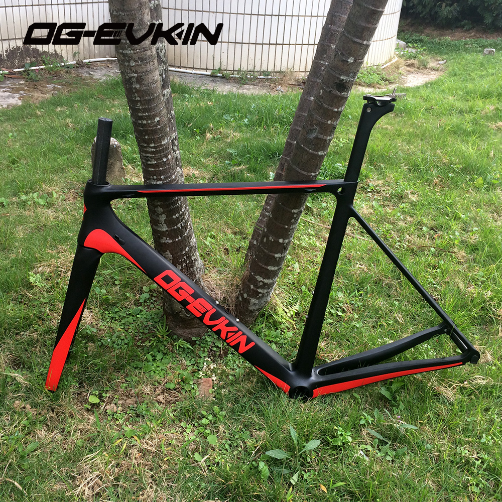 NEW OG-EVKIN carbon fiber road frame Di2 Mechanical racing bike carbon road frame 2018 carbon road bike fork+seatpost+headset 2018 t800 full carbon road frame ud bb86 road frameset glossy di2 mechanical carbon frame fork seatpost xs s m l og evkin