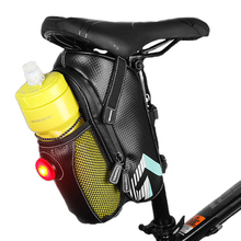 Bicycle Bag Rainproof Saddle Bag Outdoor Cycling Mountain Road Bike Rear Seat Pouch Repair Tool Bags With Taillight BG0065