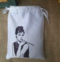 white Silk Stain Storage Bag 11x14cm 14x17cm 17x23cm pack of 30 Bithday Party Wedding Favor Holder Drawstring Pouch