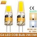 G4 LED Lamp Mini COB LED G4 Bulb 2W 3W AC/DC 12V 220V LED Light Replace Halogen Chandelier Lamps Lampadas LED COB Bulb 360 Angle